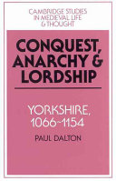 Conquest, Anarchy and Lordship ebook