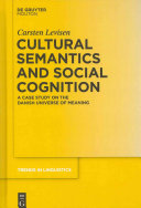Cultural Semantics And Social Cognition