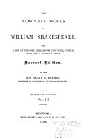 The Complete Works of William Shakespeare: A midsummer-nights dream. Merchant of Venice