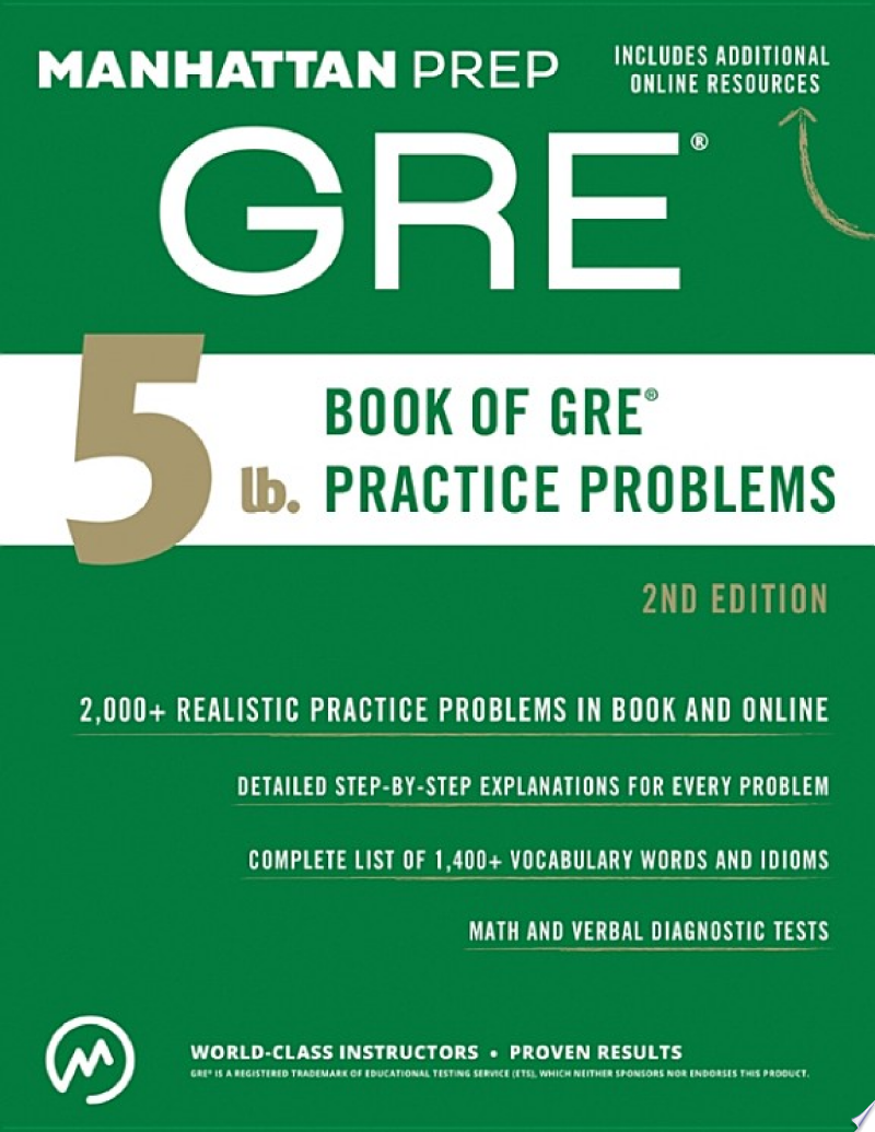 5 lb. Book of GRE Practice Problems poster