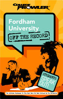 Fordham University College Prowler Off the Record