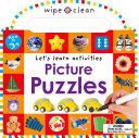 Wipe Clean  Picture Puzzles Book PDF