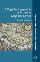 A Cognitive Approach to John Donne's Songs and Sonnets Pdf/ePub eBook