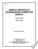 Energy Materials Coordinating Committe  EMaCC   Fiscal Year 2002 Annual Technical Report
