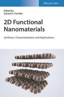 2D Advanced Functionalized Inorganic Nanomaterials Book
