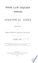 Analytical index to the report and evidence contained in appendices, parts I, II, & III