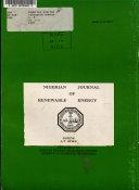 Nigerian Journal of Renewable Energy