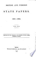 British and Foreign State Papers Book