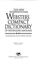 The New International Webster S Compact Dictionary Of The English Language