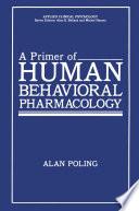 A Primer of Human Behavioral Pharmacology Book