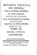 España antigua ; parte segunda