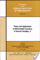 Theory and Applications of Differentiable Functions of Several Variables  : X , Volume 10