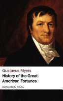 History of the Great American Fortunes Pdf/ePub eBook