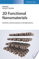 2D Advanced Functionalized Inorganic Nanomaterials