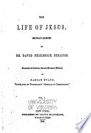 The Life of Jesus Critically Examined Book