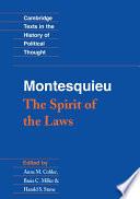 """Montesquieu: The Spirit of the Laws"" by Charles de Montesquieu, Anne M. Cohler, Basia Carolyn Miller, Harold Samuel Stone"