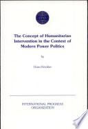 The Concept Of Humanitarian Intervention In The Context Of Modern Power Politics
