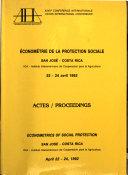 Économétrie de la Protection Sociale