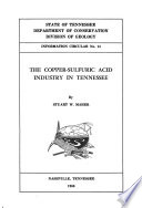 The Copper sulfuric Acid Industry in Tennessee Book