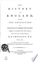 The History Of England, From The Revolution To The Death Of Georg The Second