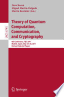 Theory Of Quantum Computation Communication And Cryptography Book PDF