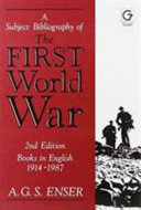 A Subject Bibliography Of The First World War