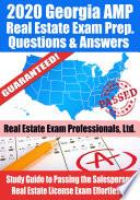 2020 Georgia AMP Real Estate Exam Prep Questions   Answers Book
