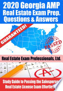 2020 Georgia AMP Real Estate Exam Prep Questions & Answers
