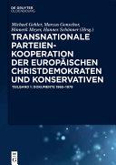 Pdf Transnationale Parteienkooperation der europäischen Christdemokraten und Konservativen Telecharger