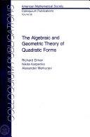 The Algebraic and Geometric Theory of Quadratic Forms - Página 438