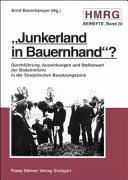 """""""Junkerland in Bauernhand""""?"""