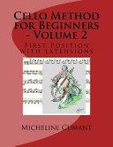 Cello Method for Beginners   Volume 2
