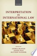Interpretation in International Law
