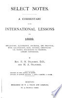 Select Notes On The International Sunday School Lessons