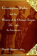 Pdf Consumption Studies and the History of the Ottoman Empire, 1550-1922 Telecharger