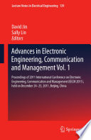 Advances in Electronic Engineering  Communication and Management Vol 1 Book