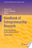 Handbook of Entrepreneurship Research