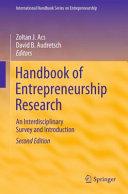 Pdf Handbook of Entrepreneurship Research Telecharger