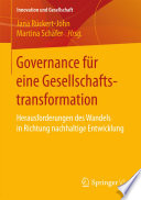 Governance für eine Gesellschaftstransformation