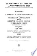 Department of Defense Appropriations  1965  Hearings Before     88 2
