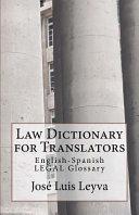 Law Dictionary for Translators