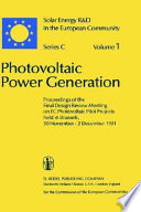 Photovoltaic Power Generation Book