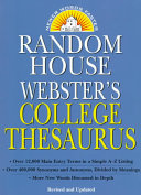 Random House Webster s College Thesaurus
