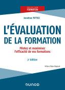 Pdf L'évaluation de la formation - 3e éd. Telecharger
