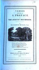Verses Written as a Preface to The Sylvan Wanderer
