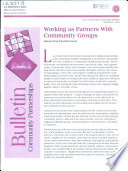 Working as Partners with Community Groups