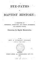 Bye paths in Baptist History