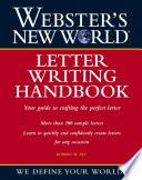 Webster s New World Letter Writing Handbook