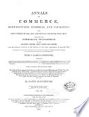 Annals of Commerce  Manufactures  Fisheries  and Navigation