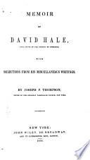 Memoir of David Hale Book PDF